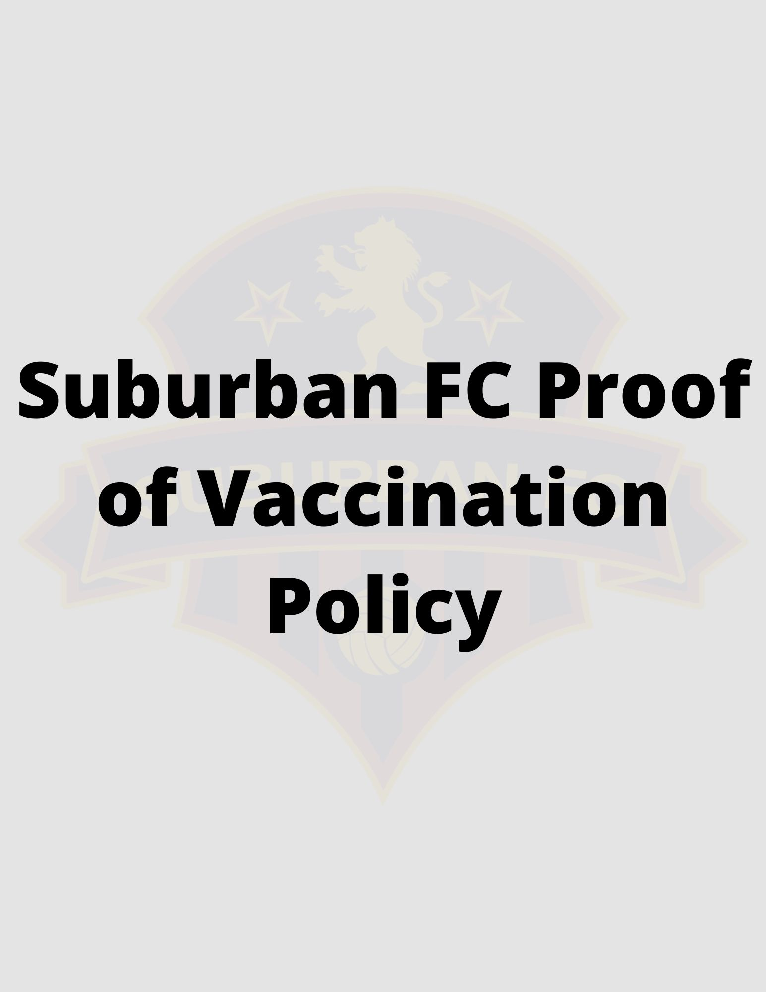 SFC Proof of Vaccination Policy